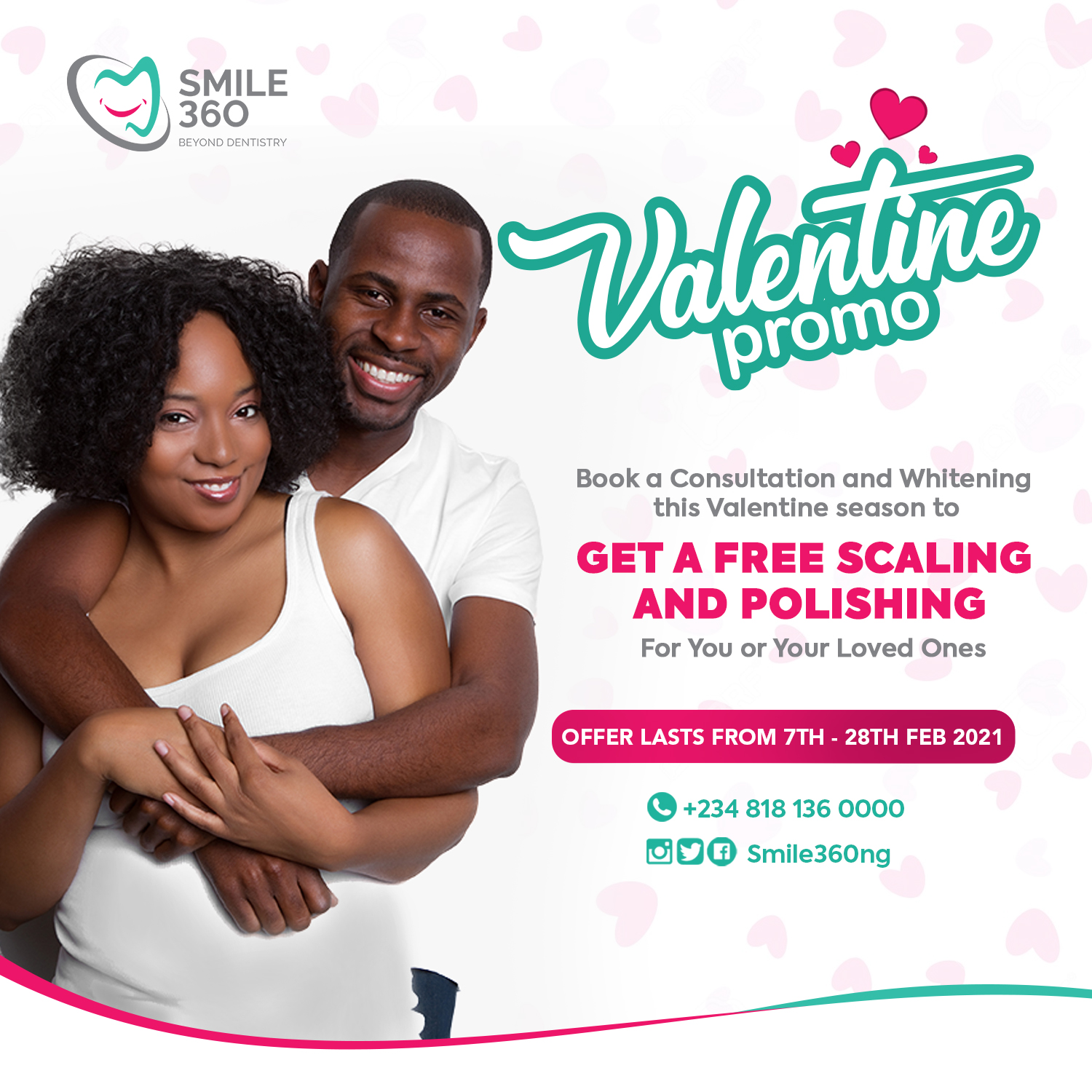Dental Valentine Offer- Free Scaling and Polishing Procedure.